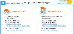 フレッツ光のサービス・契約情報3「フレッツ光のサービスタイプ」