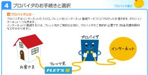 フレッツ光のサービス・契約情報4「プロバイダ選び」